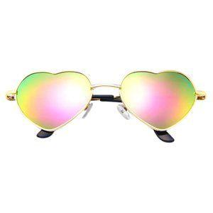 Accessories - nwt new gold heart shaped sunglasses boho glasses